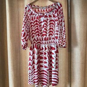 Off the shoulder dress, banana republic, size 12